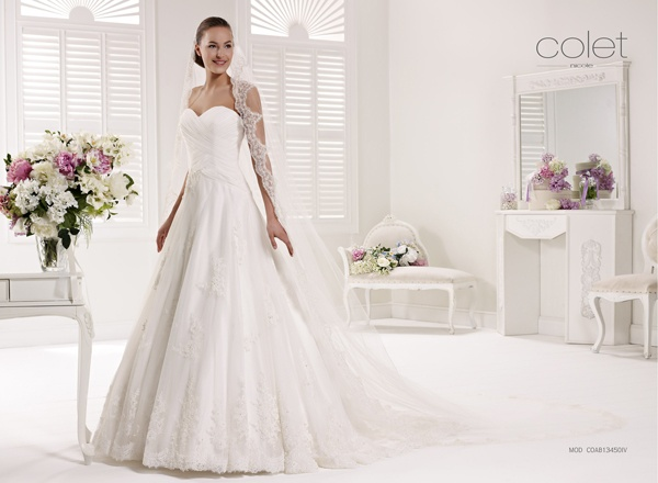 Collezione abiti da sposa #Colet 2013, abito da #sposa COAB13450IV