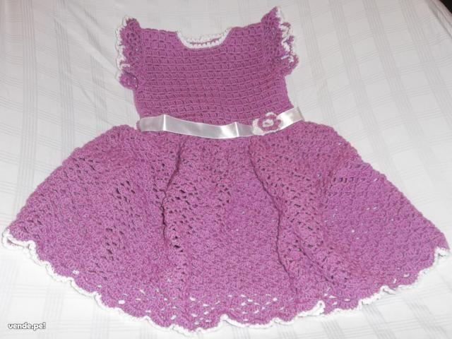 vestidos de niñita a crochet y palillo - Buscar con Google