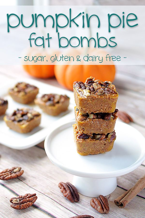 Pumpkin Pie Bites - Low Carb & Dairy Free Fat Bombs that will remind you of fall no matter what month it is! Sugar free & gluten free too! More recipes like this at www.tasteaholics.com