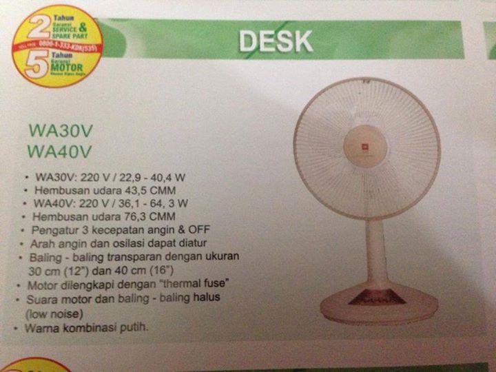 """desk fan kdk 12"""" - Oiffel"""