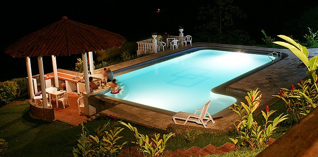 Warm weather + Illuminated swimming pool + a good company = The paradise  La Pintada, Antioquia - Colombia   This is Great, Inspiring, I Like This, {also|by the way|if yo
