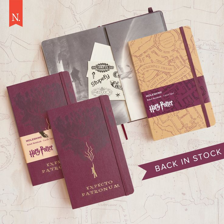 THEY'RE BACK!! You asked — we delivered. The Moleskine Harry Potter notebooks are back in their two designs: Marauder's Map and Expecto Patronum... for the inner witch and wizard in all of us.  These are strictly limited and available at NoteMaker.