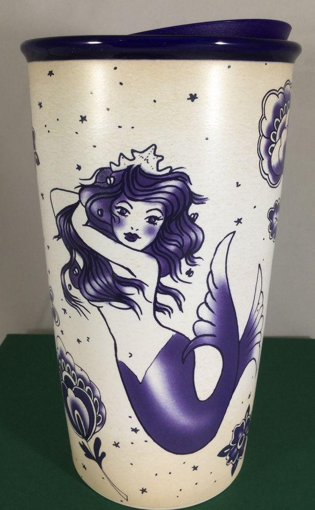 STARBUCKS - Blue / Purple Siren Mermaid Tattoo - TRAVELER TUMBLER - 2016 *NEW #Starbucks