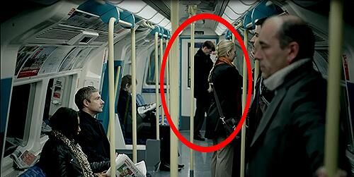 Molly's boyfriend Tom stalking John?? <---The Great BBC Question: Stalking/cameo, or only 20 actors and a tiny budget? <--- Or does this all tie in to the fact that Tom might've been on of the snipers that was hired by Moriarty in The Reichenbach Fall <--- Will we ever know?