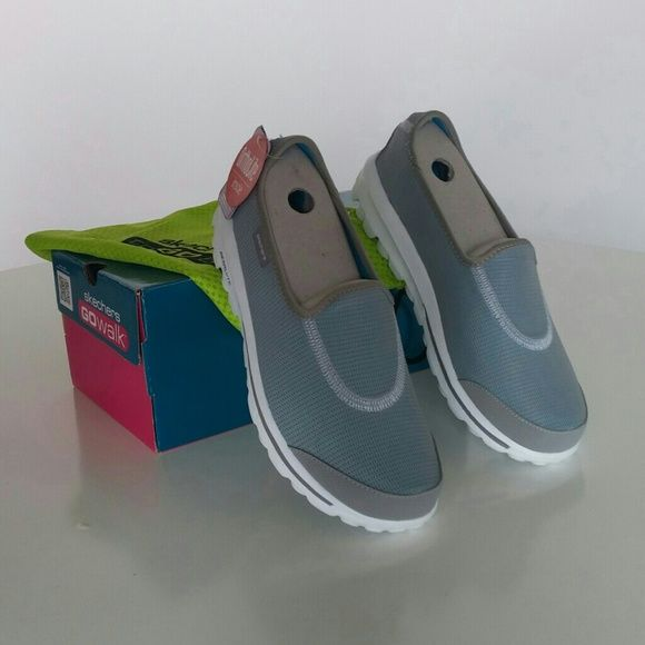Gray Sketchers Go Walk Recovery Never worn, new in box, with dust bag.    Offers are accepted. ❤ Please be considerate of Poshmark's 20% fee ❌ Sorry, no trades. Skechers Shoes