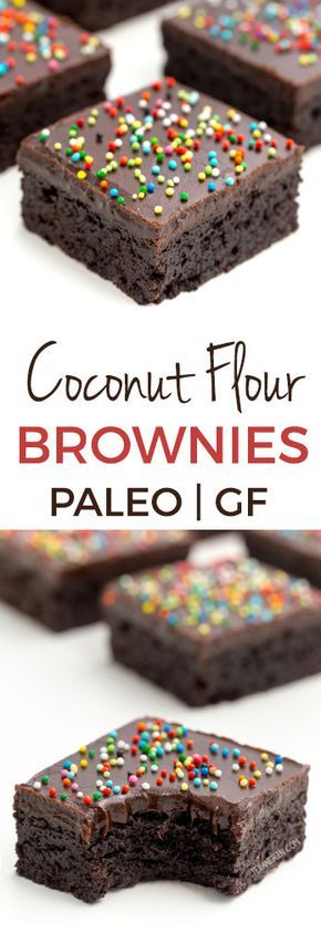 These delicious and easy coconut flour brownies are super fudgy and nobody will believe that they're paleo, let alone gluten-free, grain-free, nut-free and dairy-free! With a how-to recipe video. #paleo #brownies #glutenfree #dessert