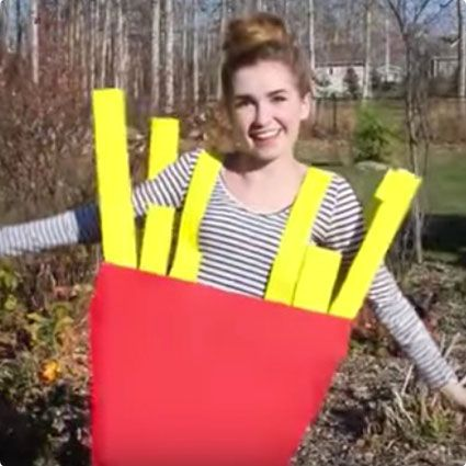 DIY French Fries Costume