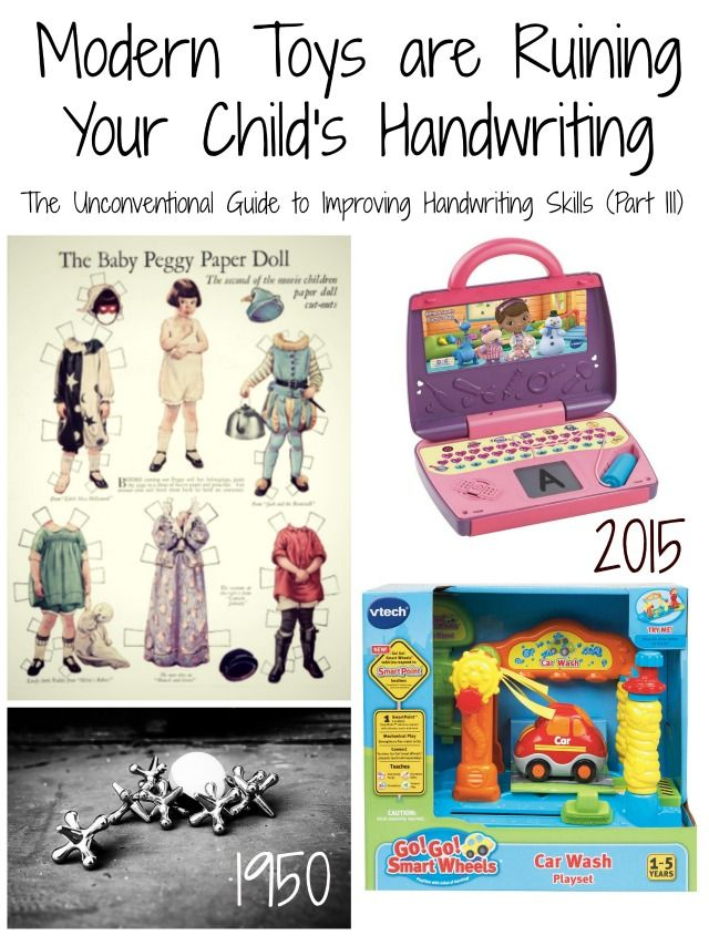 Modern toys are ruining your child 39 s handwriting the for Toys to improve motor skills