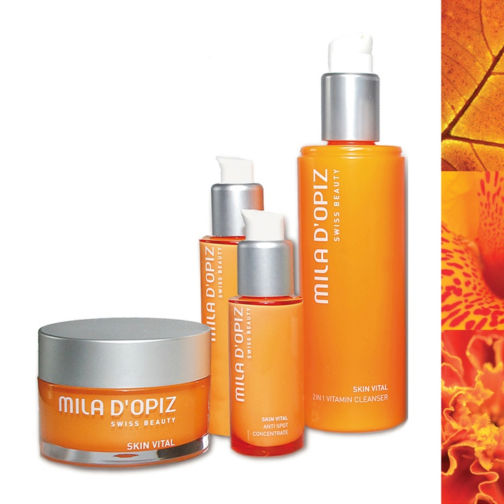 Mila d'Opiz Australia - Skin Vital 2in1 Cleanser, Moisturizer, Anti Spot Concentrate with Vitamin C & Q10 Vital Cream. Supports the micro circulation of the skin and results in a fresher & glowing complexion.