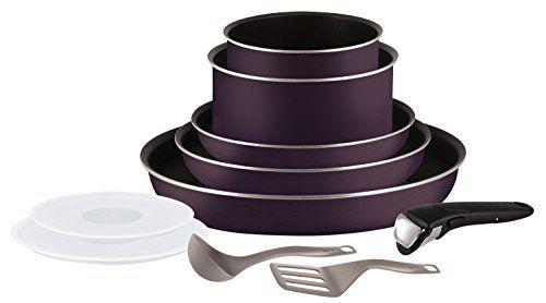 Tefal Ingenio Set: Composition du Set: Poêles 20 22 26 cm + Casseroles 16 18 cm + couvercles hermétiques 16-18 cm + spatule à angle et…
