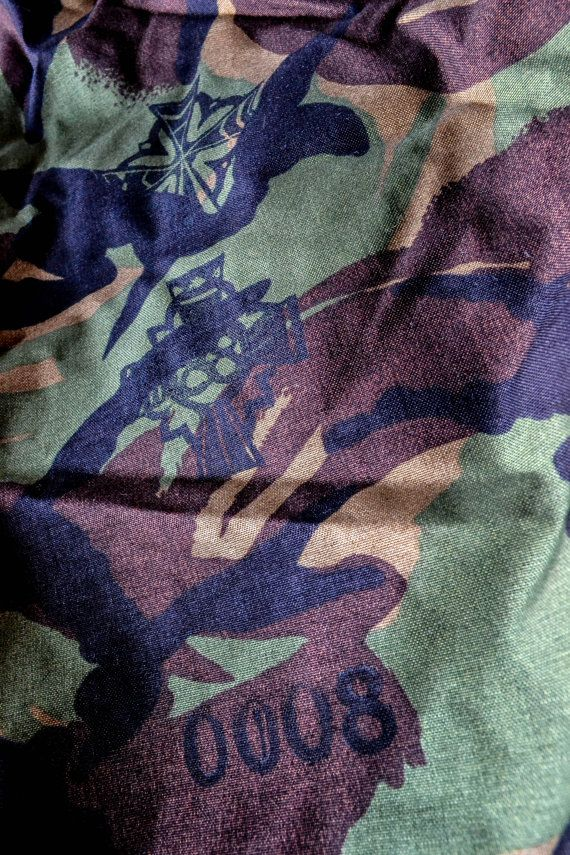 Repurposed Screen Printed Military Laundry Bag By 88th Co