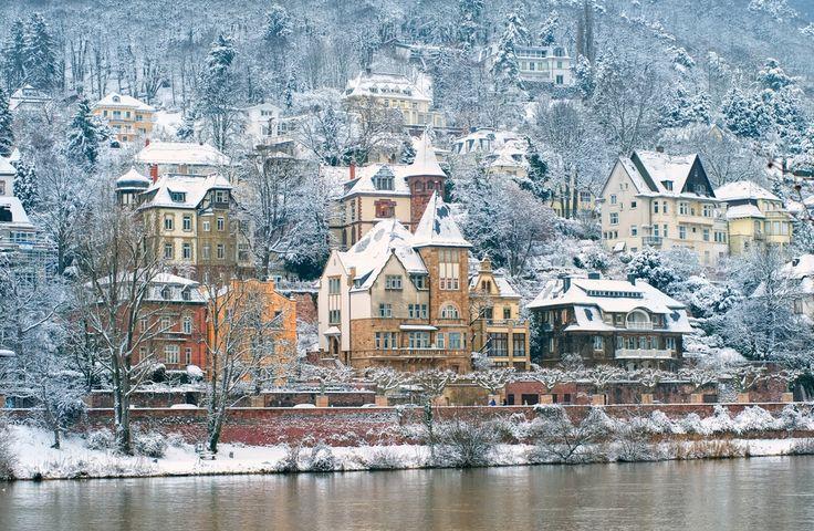 Heidelberg, Germany in the winter. Beautiful