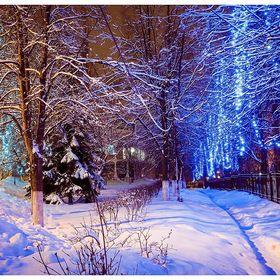 Ночная Кострома в канун нового года.