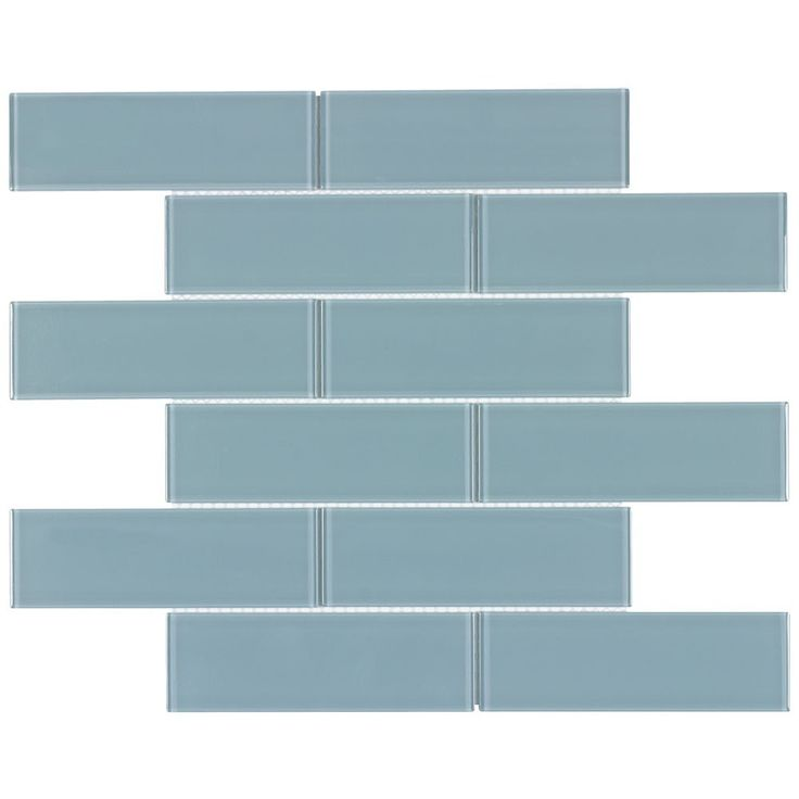Glass Subway Tile Metropole Blue 2×6