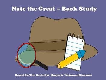 """$1 Deal!  This product goes along with the book """"Nate the Great"""", by Marjorie Sharmat. In the book, detective Nate the Great is on the case to find his friend's lost picture.  This product includes comprehension questions about the story as well as an answer key."""