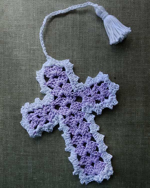 Cross Bookmarks in Thread Crochet Pattern