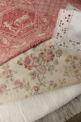 Fresh Farmhouse  textile trunk, Paul Dumas fabric