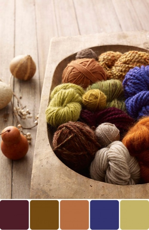 yarn color palette by bow tie & bustle. photo by lion brand.