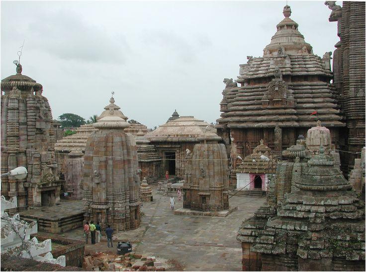 The Lingaraj Temple courtyard