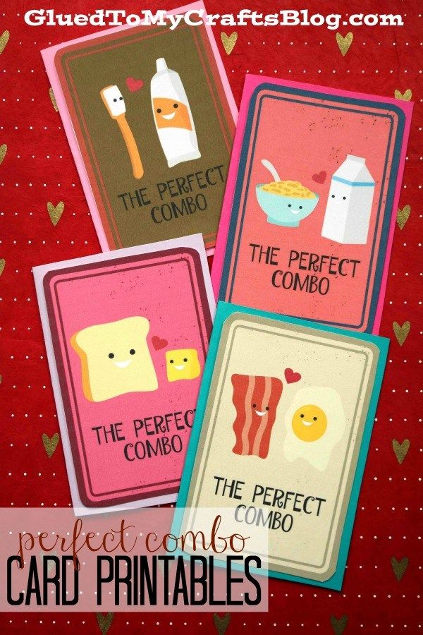 Perfect Combo Valentine S Day Card Printables Happy Valentines Day Card Valentines Day Cards Handmade Friends Valentines
