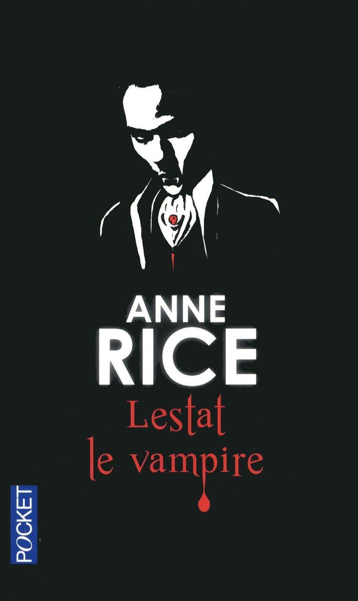 """Chroniques des vampires, tome 2 : Lestat le vampire - Anne Rice """"Vampire impie, qui ne croit ni en Dieu ni au diable, ivre d'amour et de sensualité, résolu à découvrir les mystérieuses origines de ses semblables, Lestat se lance dans une quête effrénée qui va nous transporter du Paris de Louis XV à l'Égypte ancienne pour nous amener à San Francisco de nos jours où, devenu chanteur de rock, il lance un défi suprême aux """" puissances des ténèbres """""""" http://petitlien.fr/7l88"""