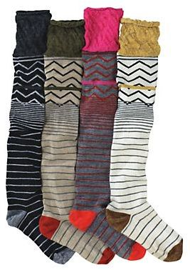 Smartwool boot socks - It would actually be too warm for me in California to wear these with tall boots (in the central valley), although think of this; Long Knee High Socks with regular ankle-height shoes and a shorter ( to the knee or mini) skirt. Effectively you have a two in one wool sock / wool leg warmer.