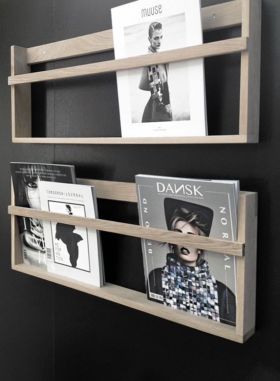 books or magazines shelves