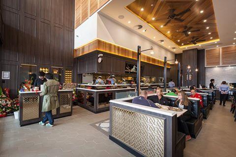Navurban™ Blackheath | This PappaRich Australia restaurant at Westfield Knox features Navurban™ Blackheath which adds warmth to the space.