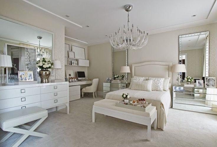 Quartos brancos e off whites maravilhosos - veja modelos e dicas de como decorar!