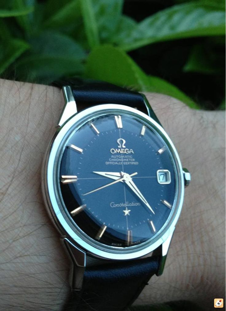 Stunning Vintage Omega Constellation Piepan Chronometer With Original Black Dial Circa 1950s