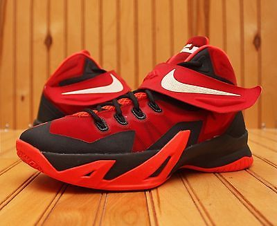 Nike Lebron Soldier VIII 8 Size 6Y - Red Black White - 653645 009