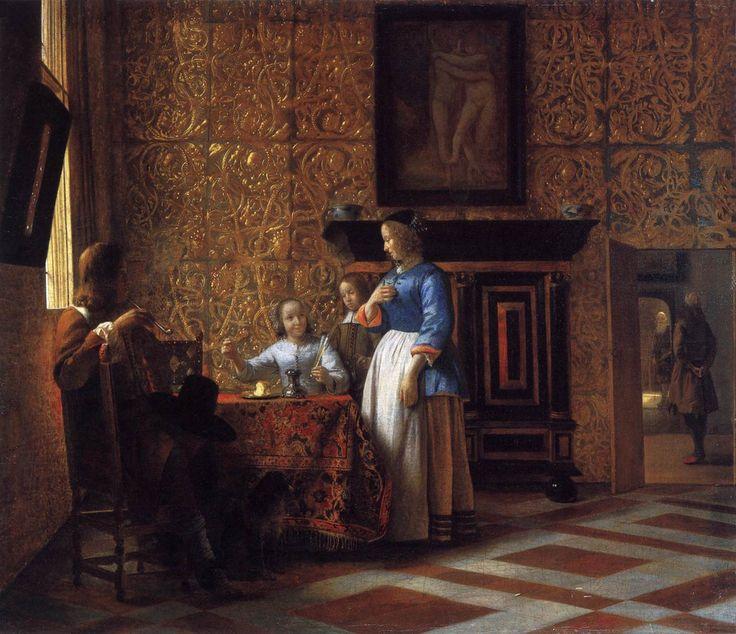 Pieter De Hooch www.artexperiencenyc.com .zie volgende foto voor bijna dezelfde kast.