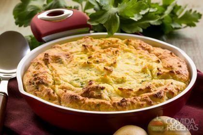 Receita de Souflê de espinafre e queijo