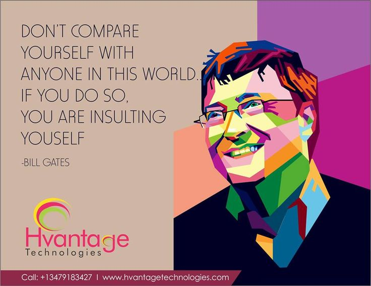 Don't compare yourself with anyone..