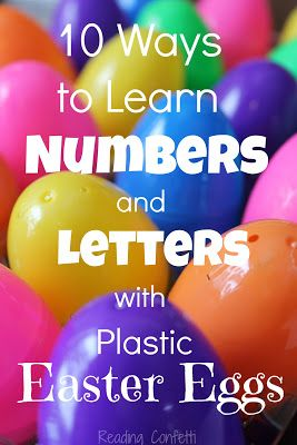 10 ways for preschoolers to learn numbers and letters using plastic Easter eggs