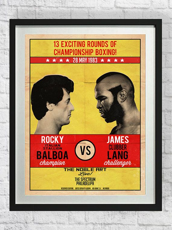 Rocky Poster Mr T Art Print Boxing Cult Classic by pikselmatic, $5.00