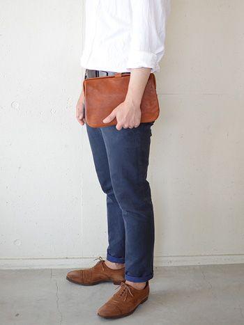 HERZ クラッチバッグ Sサイズ男性モデル