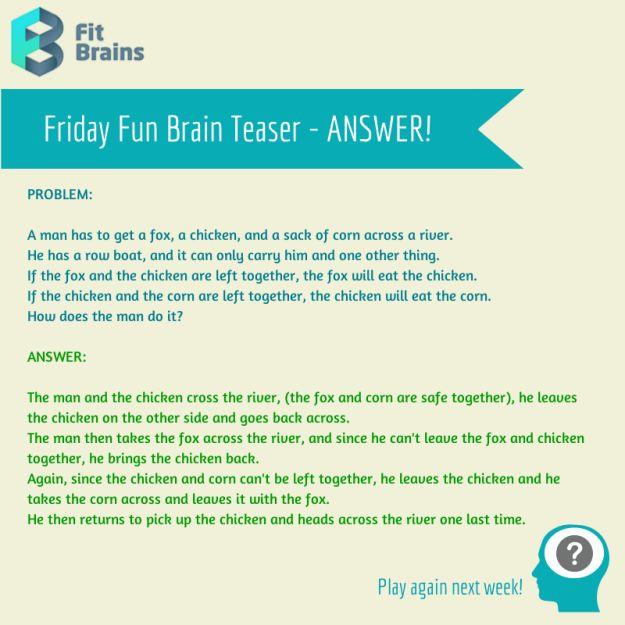 Brain Teaser Puzzle Riddle
