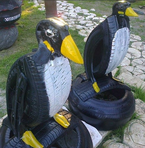 220 best images about art recycling tires birds of the for Old tire art