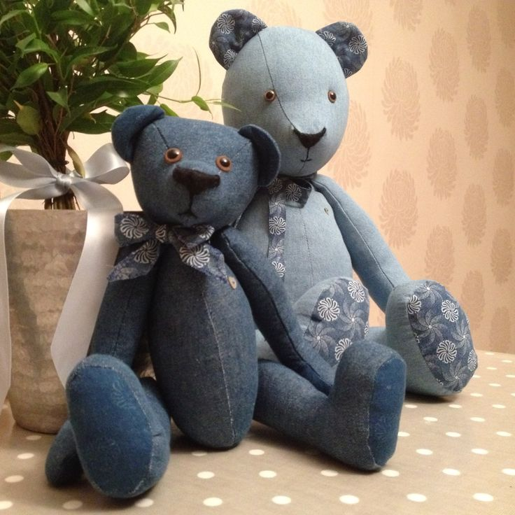Denim Ted and his little friend