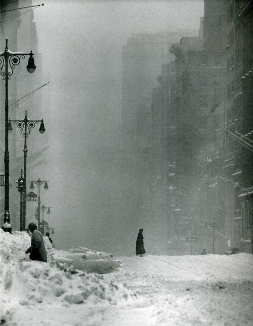 Andreas Feininger - Big Snow, 42nd Street, 1956 #Photography