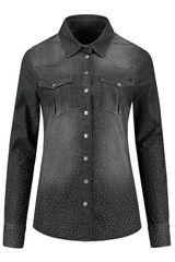 @nikkieplesseno  NIKKIE - denim blouse met strass-steentjes #Trends #F16W17 #black #trendcolors #party #feest #bruiloft #verjaardag #feestdagen #kerst #oudopnieuw #NewYearsEve #Xmass #glitter #glamour