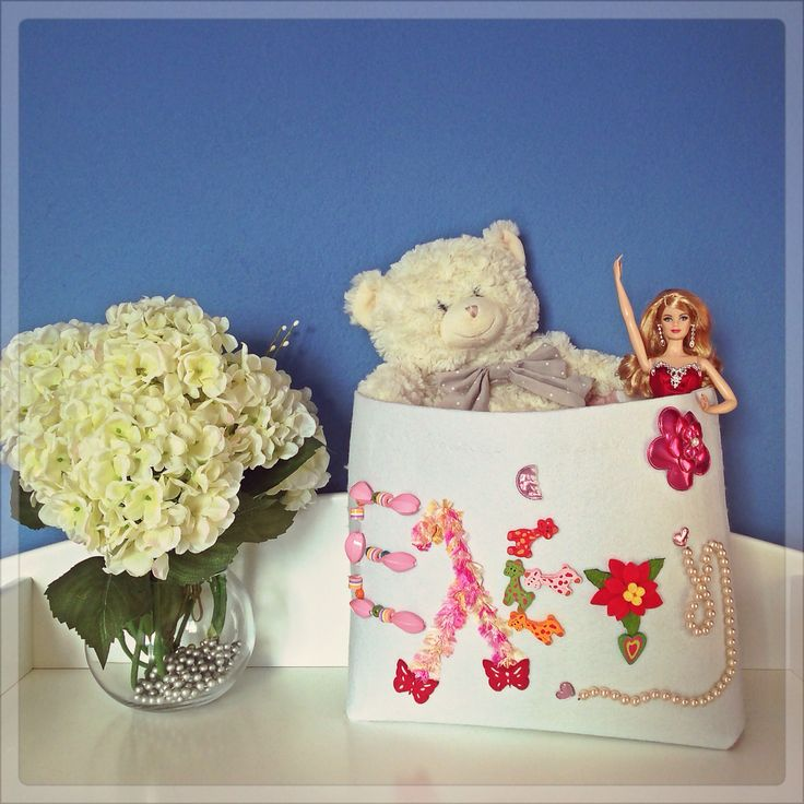 Handmade customized Toy Bag by eugenie for your baby's toys,bottles,diapers and everything you need to keep organised!