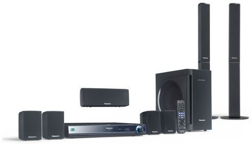 Panasonic SC-BT303 Refurbished Blu-ray Disc Home Theater Sound System; Dynamic and Clear 7.1ch Surround; Full HD Movie; Smart Setup with Auto Speaker Setup (SCBT303 SC BT303)