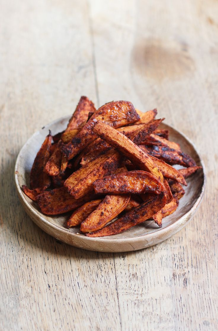 Super simple + delicious Spicy Sweet Potato Fries with Smoked Paprika + Chilli! Vegan + GF