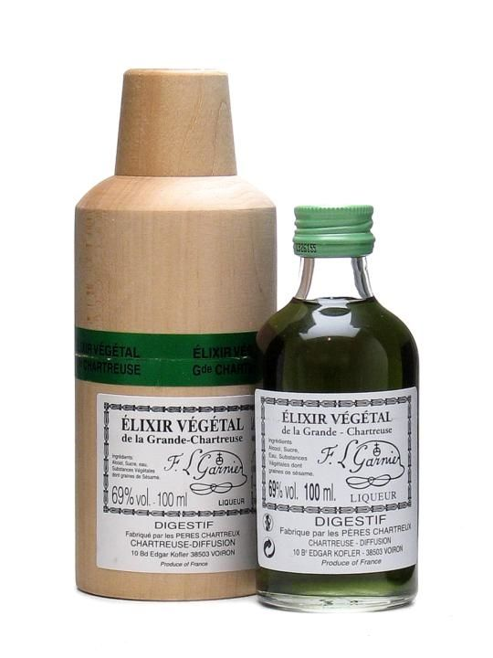 Chartreuse Elixir Vegetal is a strange but beautiful liqueur made to an original 'elixir of life' recipe revived by the Carthusian monks in the 18th century.  Recommended on a sugar cube or slightl...