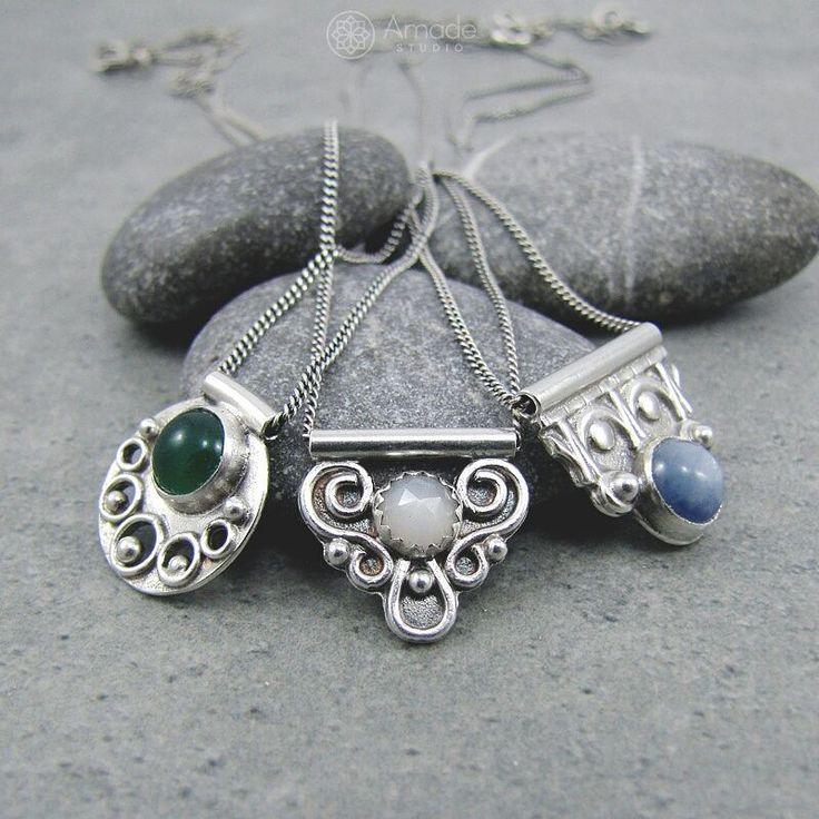 www.polandhandmade.pl -- Tiny pendants from Amade Studio. --- #polandhandmade #amadestudio #pendant #silverjewelry #handmadejewelry #handmade #artisanjewelry #silverart #orientaldesign #tinypendant