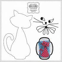 wzor kotka filc