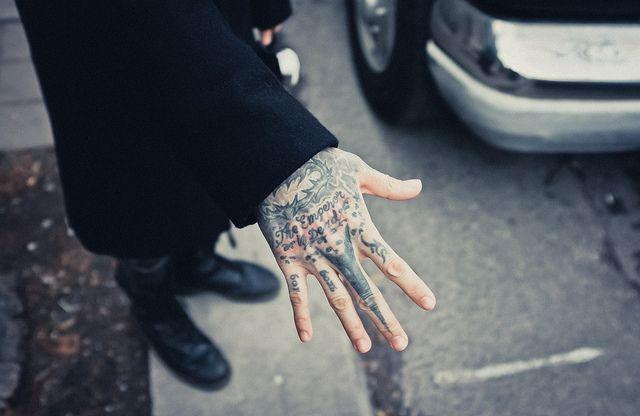 kyo, Dir en Grey. by MrEllis, via Flickr // ughhhh, even his hand ink is perfect. #fml