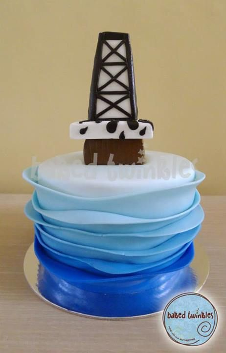 17 Best Images About Oil Rig Cakes On Pinterest